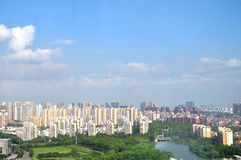 Overlooking the Suzhou New District Royalty Free Stock Photo