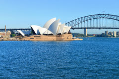 Overlooking the Sydney Opera House Royalty Free Stock Photo
