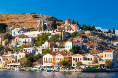 Overlooking Symi Stock Photography