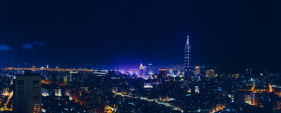Overlooking Taipei city Royalty Free Stock Images