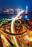 Overlooking The Bridge. Took Aerial Stock Image