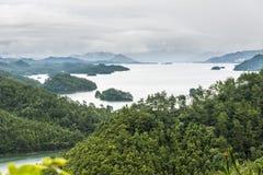 Overlooking Thousand island lake Stock Image