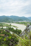 Overlooking Tianmu brook Royalty Free Stock Photography