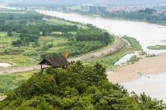 Overlooking Tianmu brook Royalty Free Stock Photography