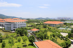 Overlooking the tianzhu resorts hotel Stock Photography