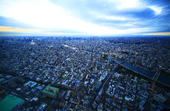 Overlooking the Tokyo. Tokyo is so beautiful in the night Royalty Free Stock Photography