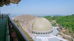 Overlooking the top of the fouding (Buddha top) palace Royalty Free Stock Photo