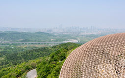 Overlooking the top of the fouding (Buddha top) palace Stock Images