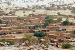 Overlooking the town of Hombori in Mali Stock Image