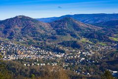Overlooking the valley of Baden Baden Royalty Free Stock Photos