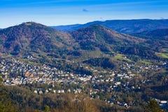 Overlooking the valley of Baden Baden Royalty Free Stock Photos