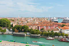 Overlooking Venice sea port Royalty Free Stock Photos