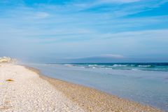 The overlooking view of the shore in Destin, Florida stock photos