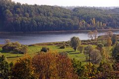 Overlooking Viljandi Lake stock photos