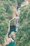 Overlooking the waterfall stock image