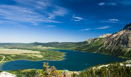Overlooking Waterton National Park Stock Photography