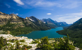 Overlooking Waterton National Park Stock Photo
