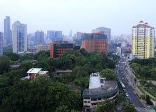 Overlooking wenyuanlu street Royalty Free Stock Images