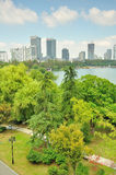 Overlooking the Xuanwu Lake Park Stock Photos