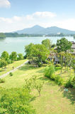 Overlooking the Xuanwu Lake Park Royalty Free Stock Photo