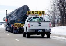 Overmaatse vrachtwagenlading Royalty-vrije Stock Foto