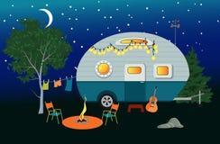 Overnight Camping Stock Image