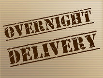 Overnight Delivery Indicates Next Day And Courier Royalty Free Stock Photography