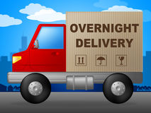 Overnight Delivery Represents Next Day And Courier Stock Photo