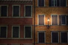 Overnight. Night view of an old building in Piazza di Spagna, Rome - ITALY Royalty Free Stock Photography