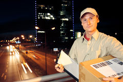 Overnight Parcel Delivery Royalty Free Stock Photography