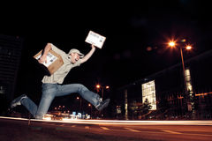 Overnight Parcel Delivery Stock Images
