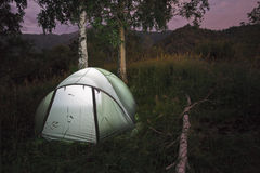 Overnight in tent camp. Stock Photography