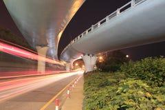 Overpass θέα νύχτας στοκ εικόνες