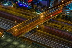 Overpass του Λας Βέγκας νύχτα στοκ εικόνες