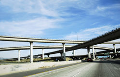Overpass America Freeway System Stock Photography