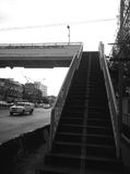 Overpass in Bangkok shoot in black and white Royalty Free Stock Image