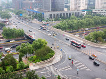 Overpass in beijing. China,peaktime Royalty Free Stock Photography