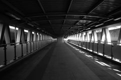 Overpass black and white. Overpass passage street structure town Stock Photo