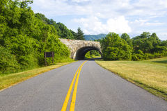 Overpass on the Blue Ridge Parkway Stock Photography
