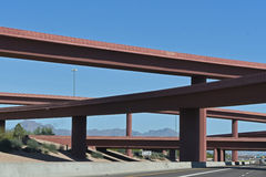 Overpass and blue sky. Seen from below Royalty Free Stock Images