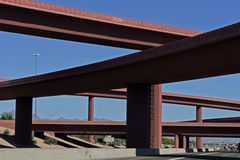 Overpass and blue sky. Seen from below Stock Photography