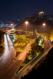 Overpass with city night scape,chongqing,china Stock Photos