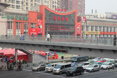 Overpass in the city of Shanghai Royalty Free Stock Image