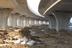 Overpass Construction. The overpass was build almost finished Royalty Free Stock Photos