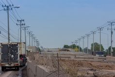 Overpass Construction for motorway Stock Photography
