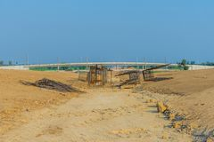 Overpass Construction for motorway. Kanchanaburi Thailand royalty free stock photos
