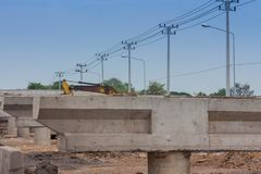 Overpass Construction for motorway Royalty Free Stock Photos