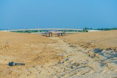 Overpass Construction for motorway. Kanchanaburi Thailand royalty free stock photo