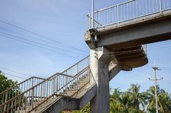 Overpass in country Thailand. Close up overpass in country Thailand Royalty Free Stock Photography