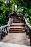 Overpass in garden. Sky walk in zoo Stock Photo
